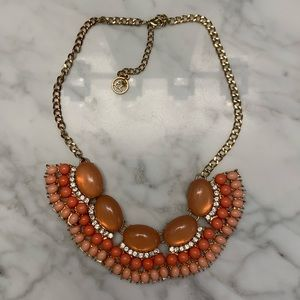 Gold & coral statement necklace